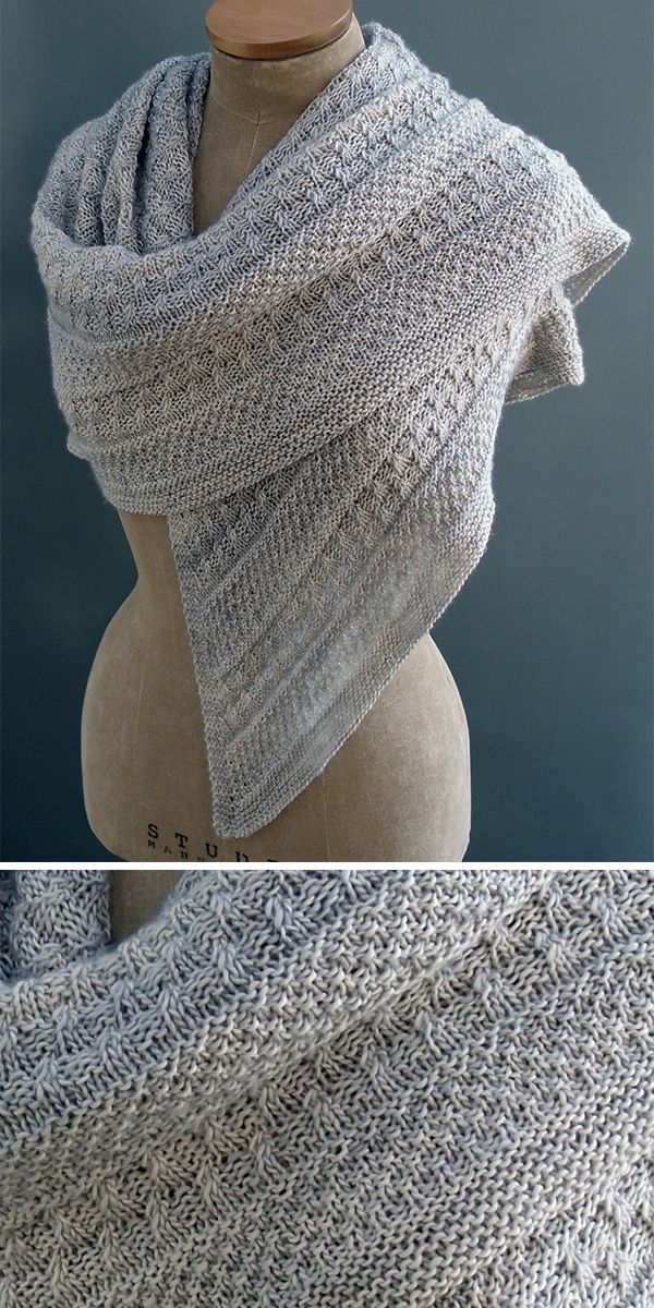 Photo of Stitch Stripe Shawl Knitting Patterns