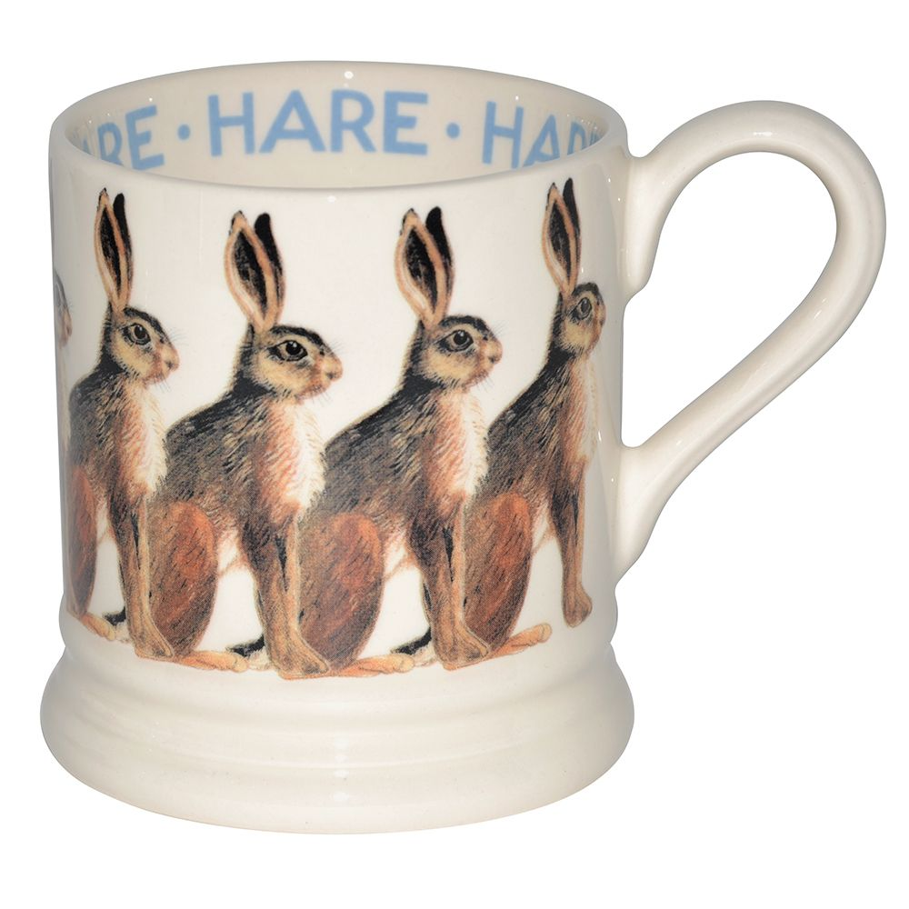 Hare 1/2 Pint Mug for £19.95 Did you know that the European Hare (that Matthew has drawn so beautifully for this mug) is the fastest land mammal in Great Britain? It only seems right to celebrate this Usain Bolt of the animal kingdom with a brand new mug.