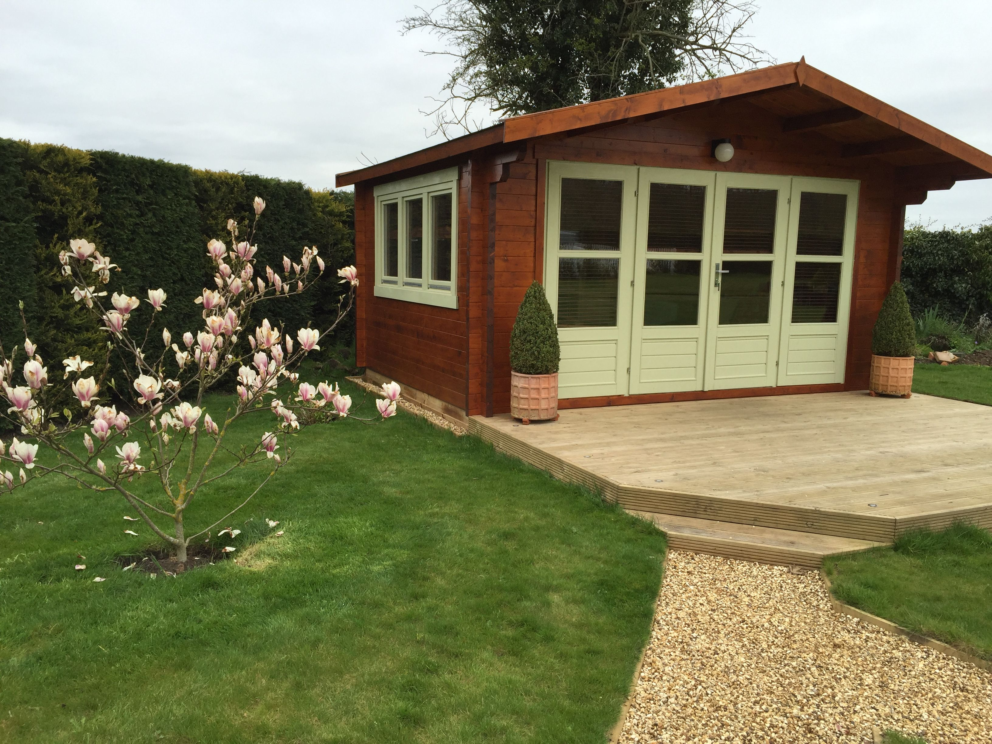 Blackpool Log Cabin 4 4 X 3 4m In 58mm Logs And Double