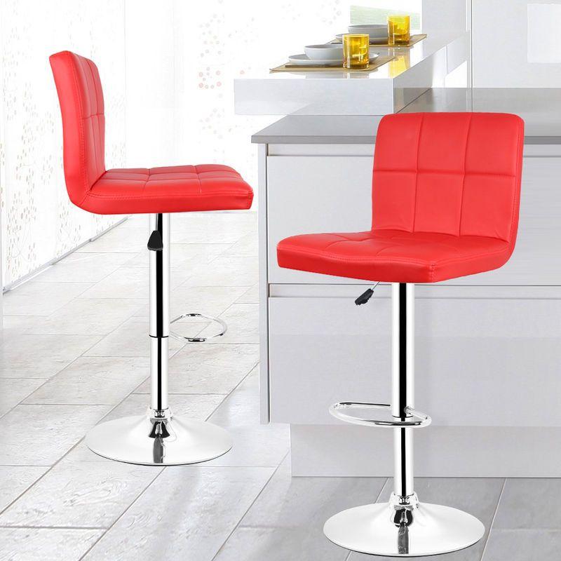 Lot De 8 Tabourets De Bar Chaise De Bar Pu Rouge Pivotante Ergonomique Reglable Hcy56559bm2 Kandeng Bar Stool Chairs Chair Bar Chairs