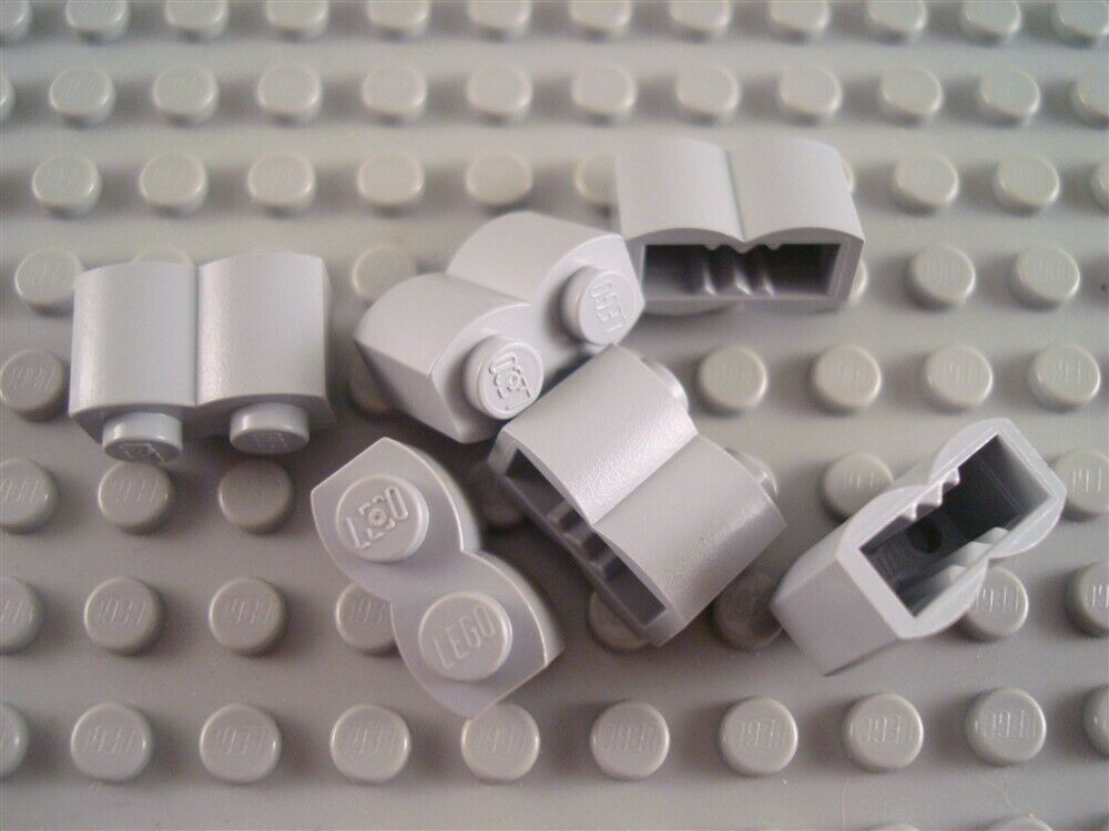 LEGO Lot of 12 Light Bluish Gray 1x2 Handle Plate Specialty Parts and Pieces
