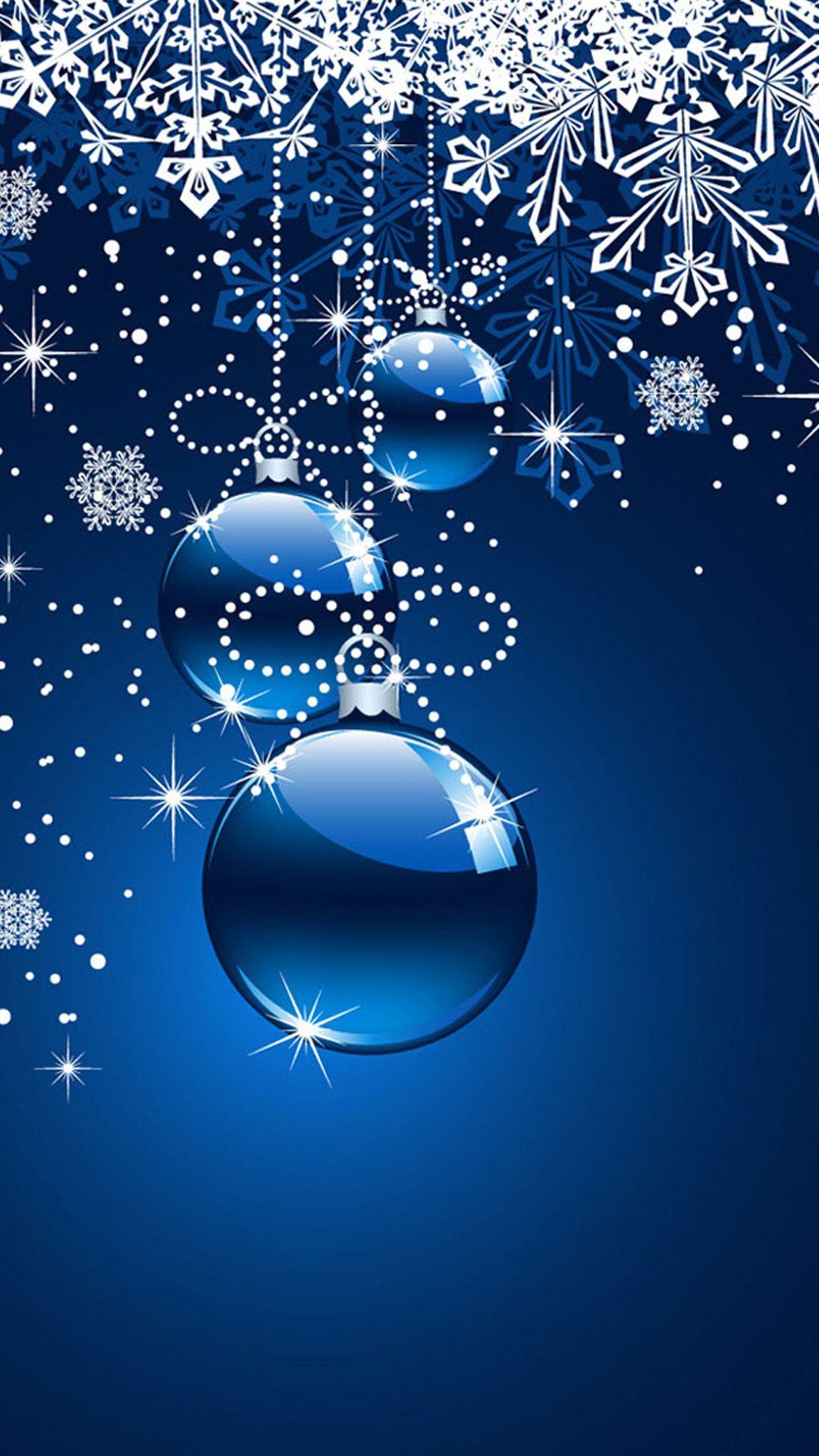 Blue christmas ornament wallpaper imgkid the