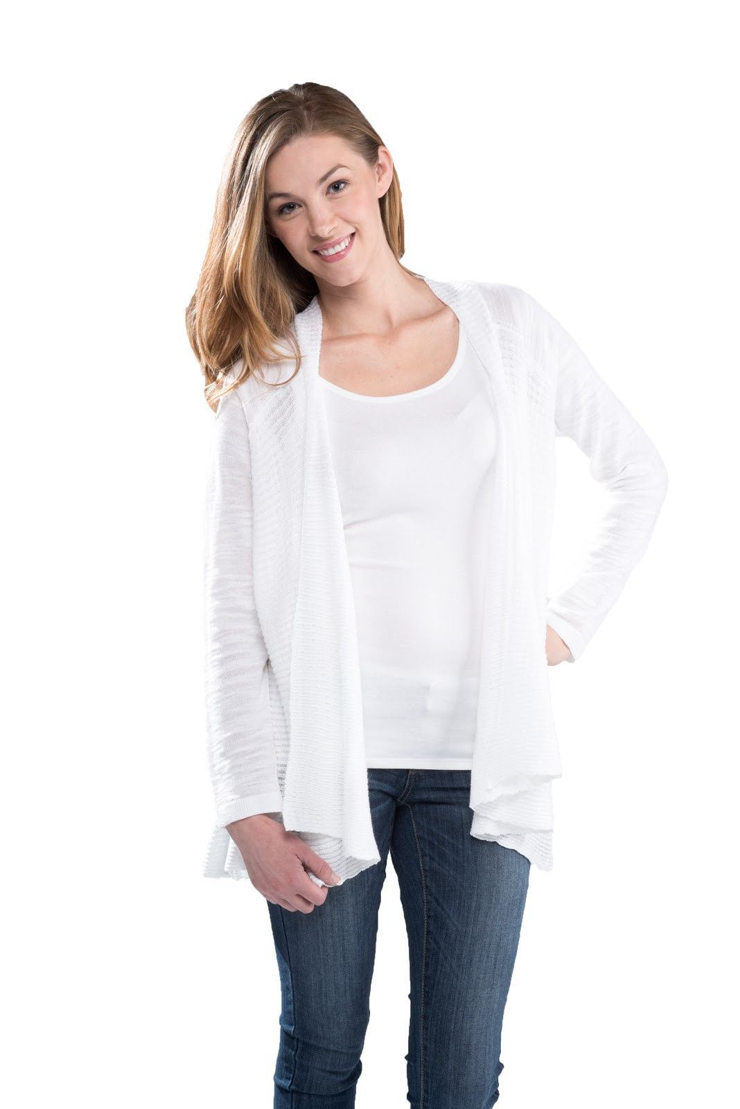 Rib Detail Drape Front Cardigan | Products | Pinterest | Products
