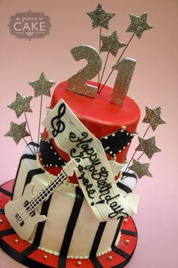 Rock star cake designs