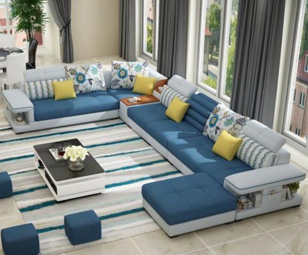 Modern Luxury U Type Fabric Sofa Living Room Furniture Styles Corner Sofa Design Sofa Design