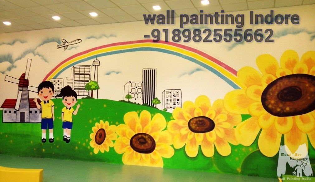 School Wall Paintings Gwalior School Cartoon Art Gwalior School Wall ...