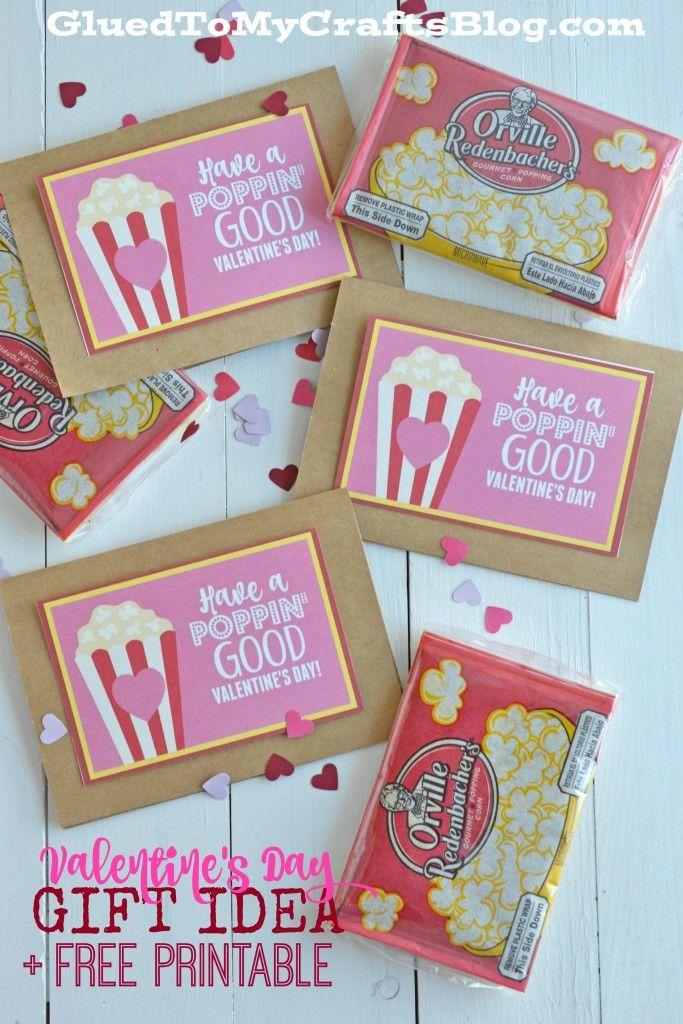 Poppin Good Valentine S Day Gift Idea W Free Printable Valentines School Preschool Valentines Valentine S Day Diy