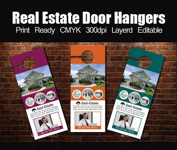 Real Estate Door Hanger Template  Door Hanger Template Hanger And