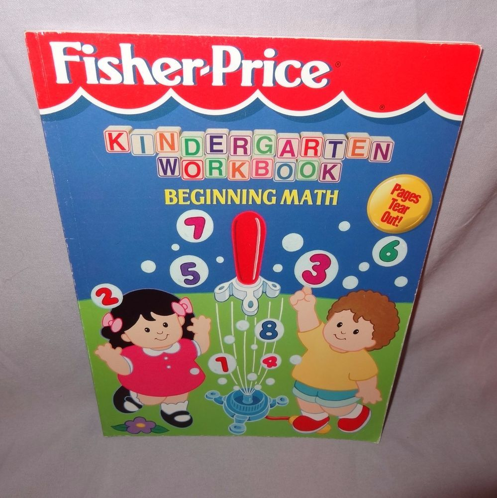 Workbooks kindergarten common core workbook : Beginning Math Workbook 1999 Kindergarten Fisher Price Un-used ...