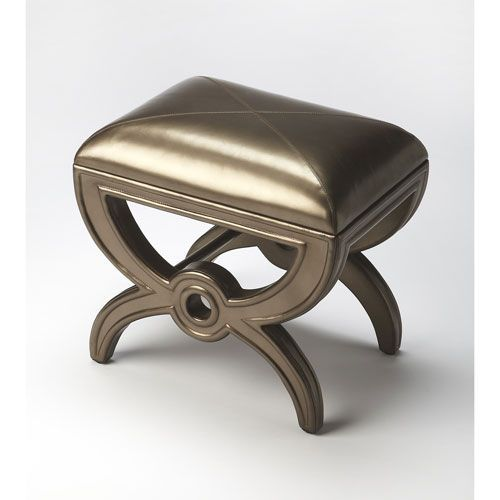 Awesome Moderne Cosmopolitan Leather Vanity Stool Products Alphanode Cool Chair Designs And Ideas Alphanodeonline