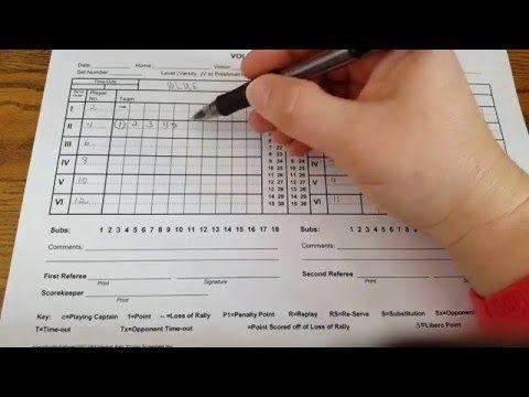 Mhsaa Volleyball Scoresheet Youtube Volleyball Scoring Volleyball Score Sheet Volleyball