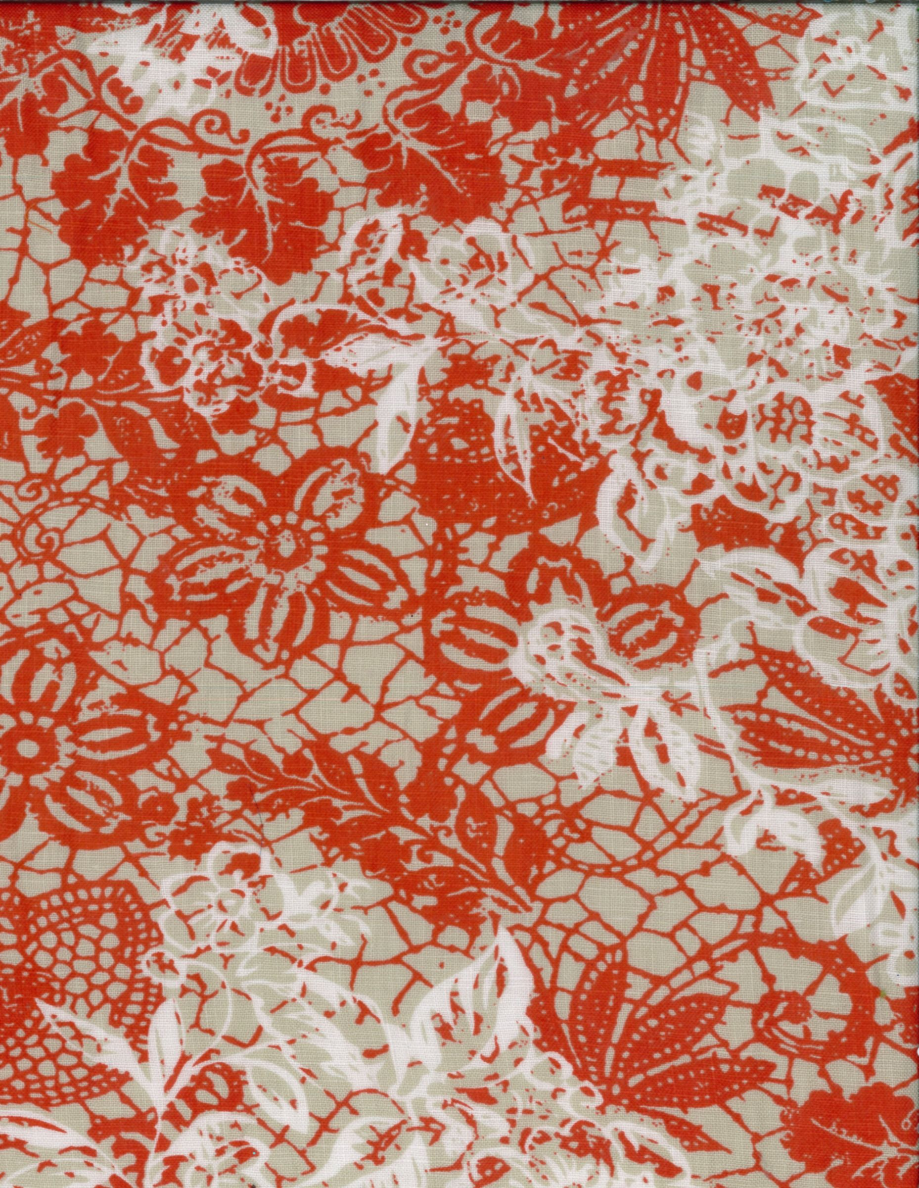 Fashion linen fabric shadow floral red tissue hires fabrics