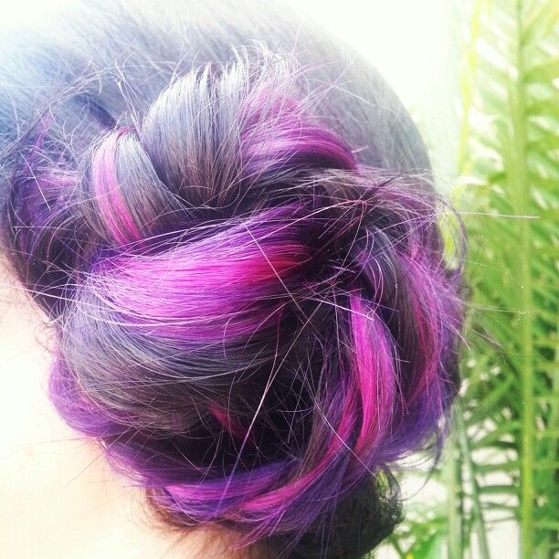 Purple Hair Cold Fusion Extensions She Hair By So Cap By Tyler