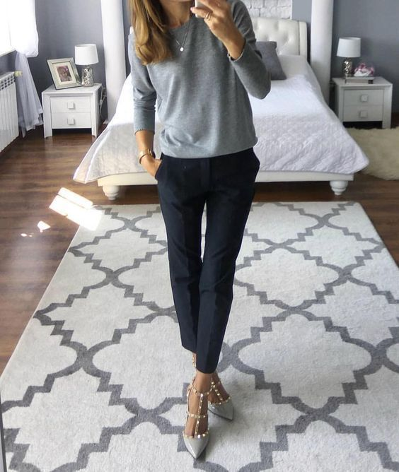 25 Sophisticated Work Attire and Office Outfits for Women to Look Stylish and Ch #fallworkoutfits