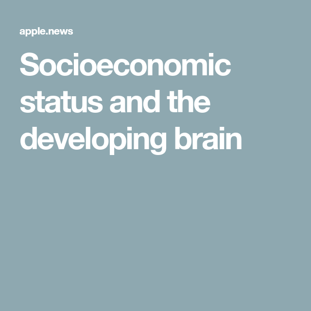 Socioeconomic Status And Developing >> Socioeconomic Status And The Developing Brain Scienmag Brain