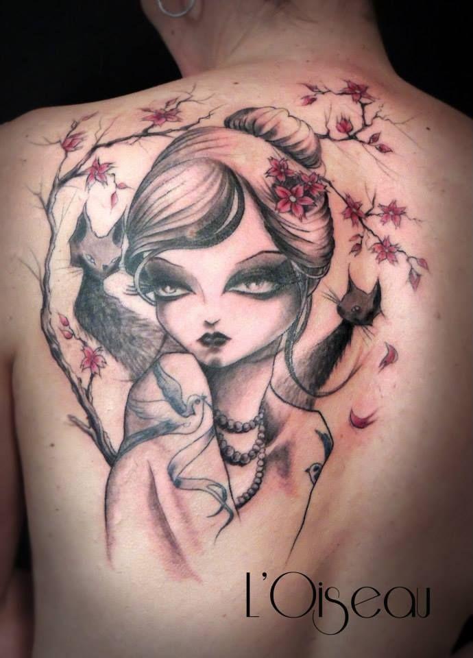 tattoo by l 39 oiseau at belly button tattoo shop tattoo artist l 39 oiseau pinterest belly. Black Bedroom Furniture Sets. Home Design Ideas
