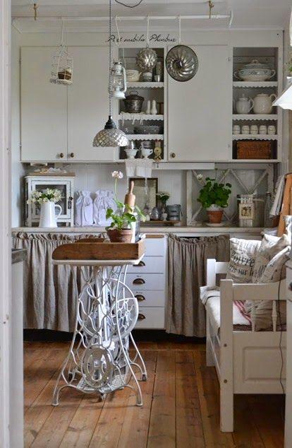 A casa di maria in svezia idee per la casa pinterest - Mobili per macchine da cucire ...