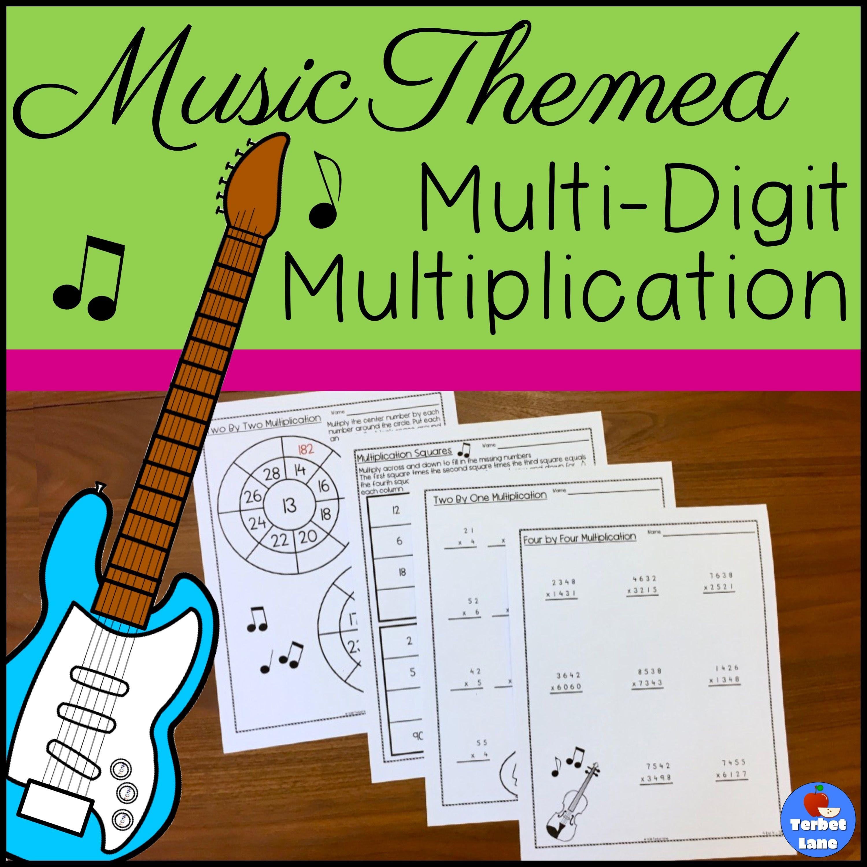 Multi Digit Multiplication Worksheets From Terbet Lane