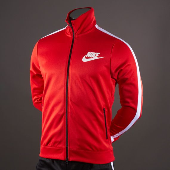 c081504b62e Nike Track Logo Jacket - Mens Select Clothing - Challenge Red-White-White