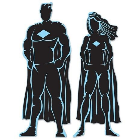A Silhouette Image Of A Female Superhero With Cape That You Can Change The Color To Powerpoint Clipart Illu Superhero Silhouette Female Superhero Superhero