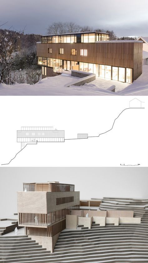 Two in one house arch  architecture design home conceptmodel architecturemodel dmodel also modern rh pinterest