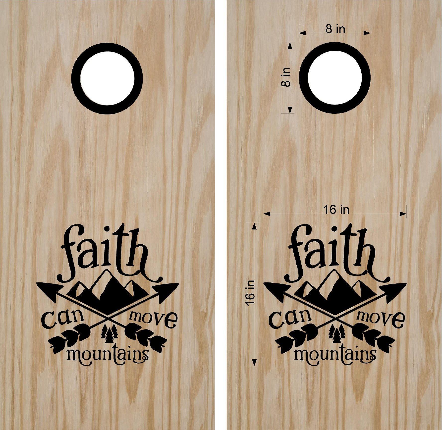 Fine Faith Cornhole Boards Decals Custom Wedding Cornhole Custom Machost Co Dining Chair Design Ideas Machostcouk