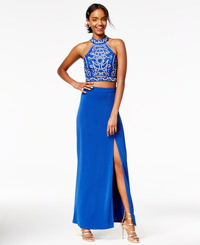 Speechless Juniors\' 2-Pc. Sequined Gown | Banquet dresses, Gowns and ...