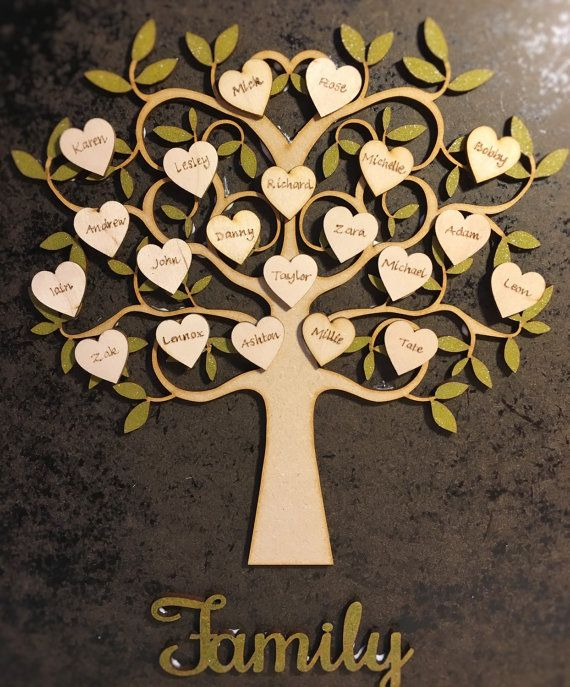 Personalised Wooden Family Tree Personalized Family Tree Frame