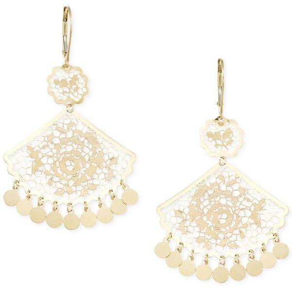 Filigree Fan Chandelier Earrings In 14k Gold 412 Liked On Polyvore Featuring Jewelry