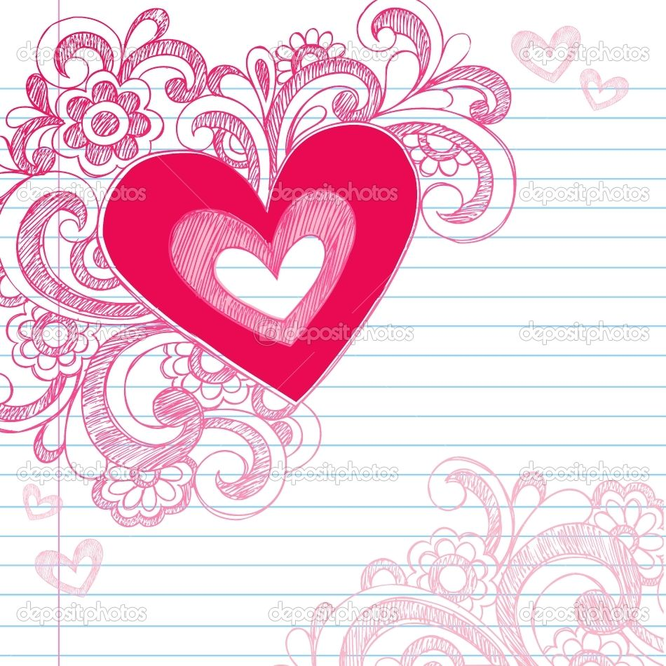 Wedding decorations clipart  Simple Doodle Ideas  Heart Love Sketchy Doodle Swirls Valentines