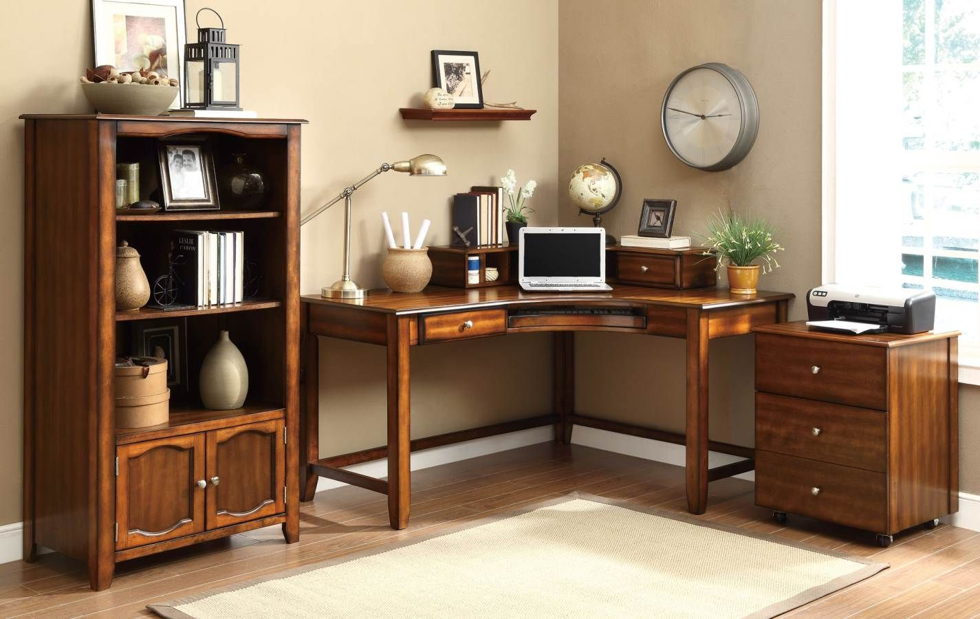 Jacqueline Casual Wood Office Furniture Set With Images Office