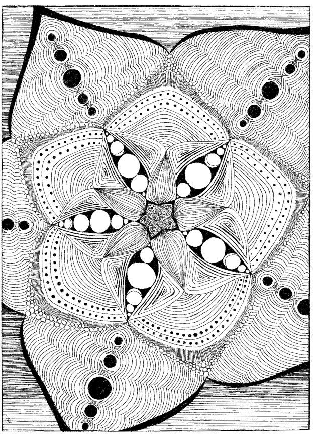 Starburst mandala coloring page. Available in pdf format for easy ...