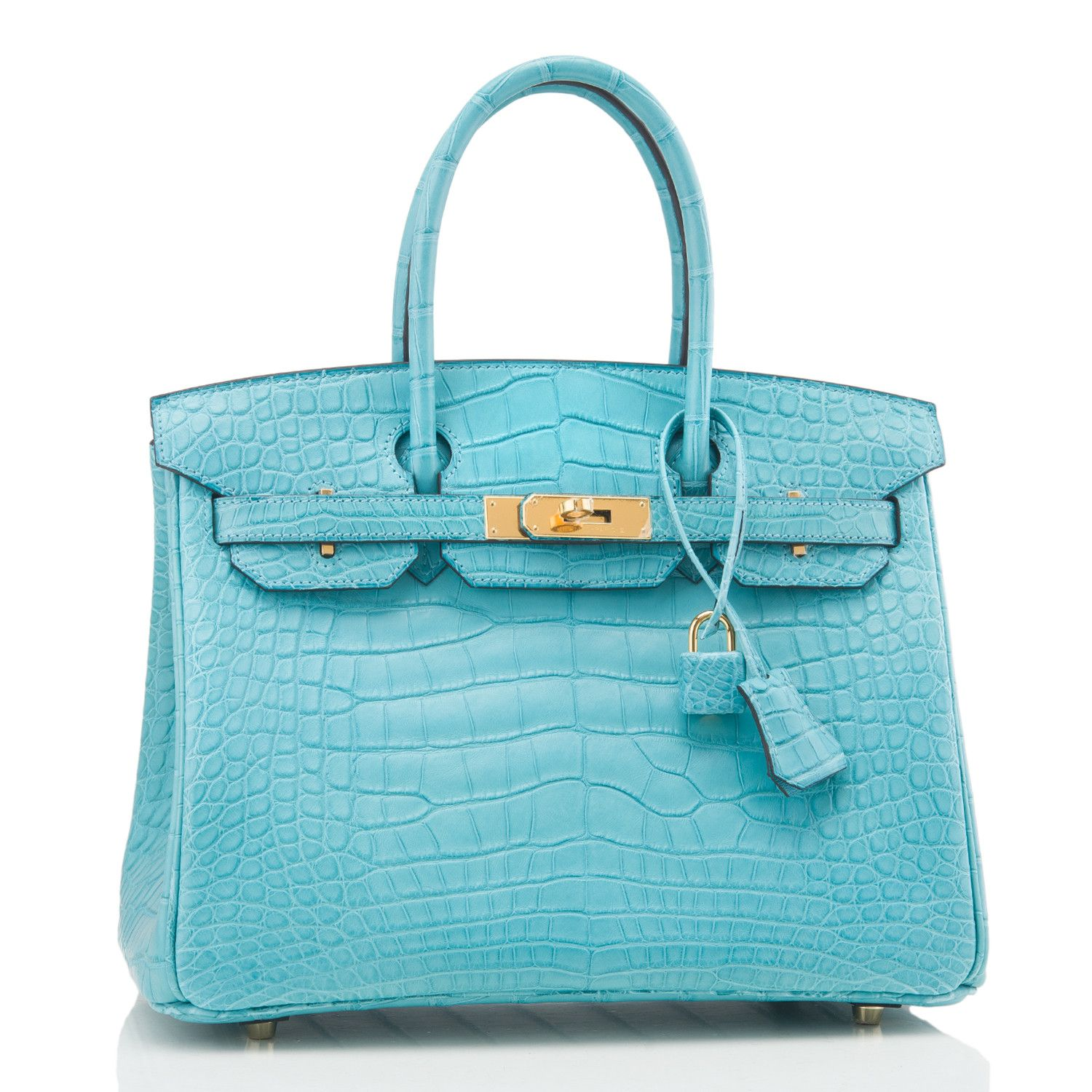 8e26a4941756 ... clearance hermes blue saint cyr matte alligator birkin with gold  hardware in store fresh condition.
