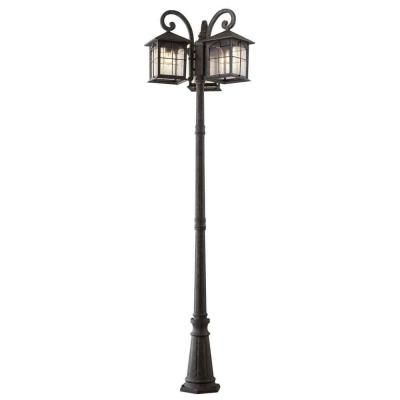 Home Decorators Collection Brimfield 3 Head Aged Iron Outdoor Post Light Hb7019a 292 The Home Depot Outdoor Post Lights Outdoor Lamp Posts Outdoor Lamp Post Lights