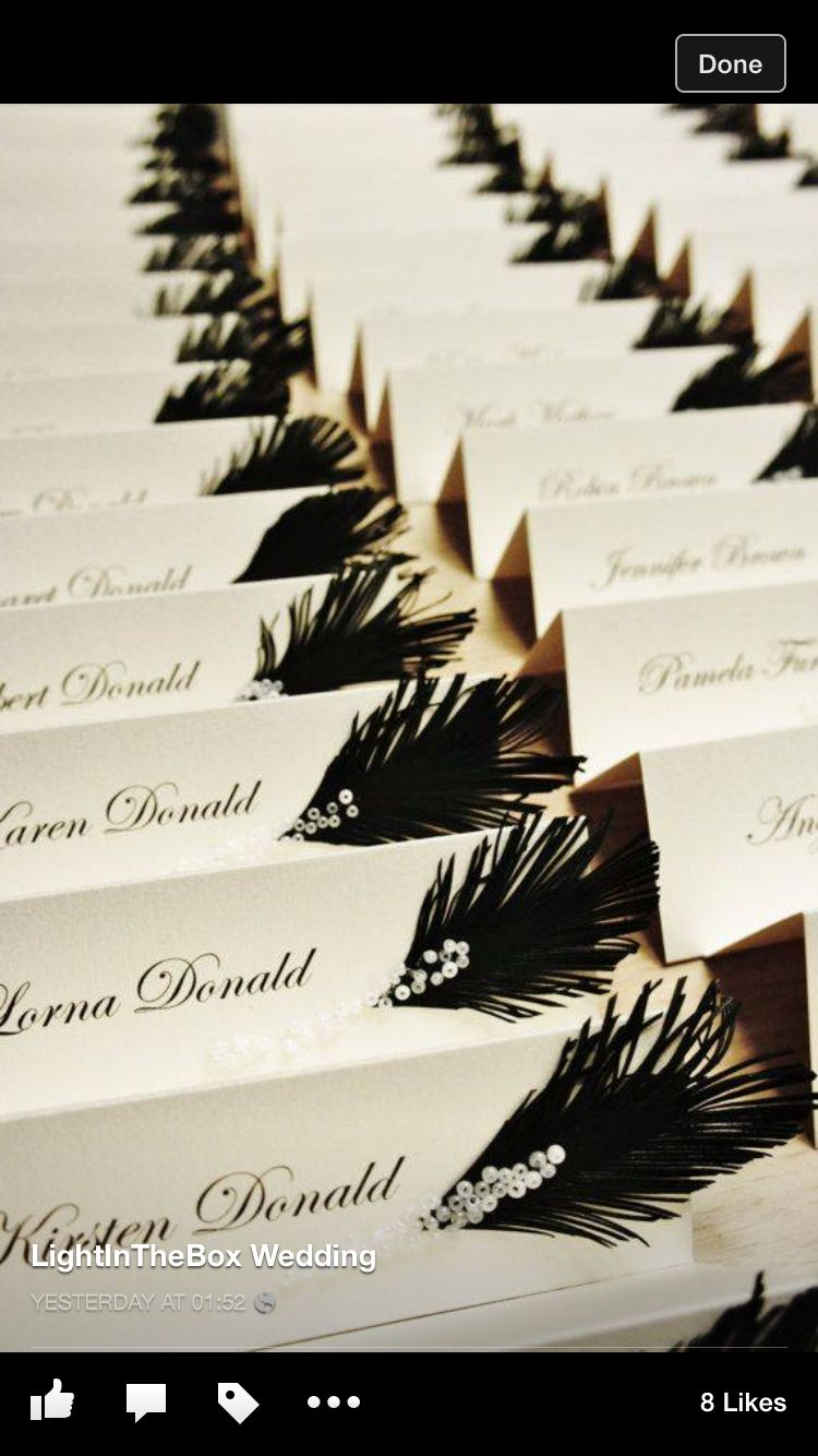 Table name tags | Savoring Excellence 2016 | Pinterest | Gatsby ...