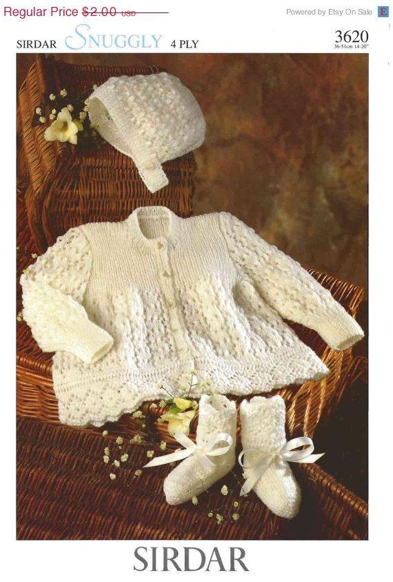 Summer Discount Vintage PDF Baby Knitting Pattern Sirdar 3620 4ply ...