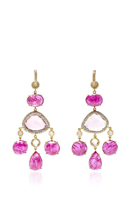 One Of A Kind Ruby Chandelier Earrings by Nina Runsdorf for ...