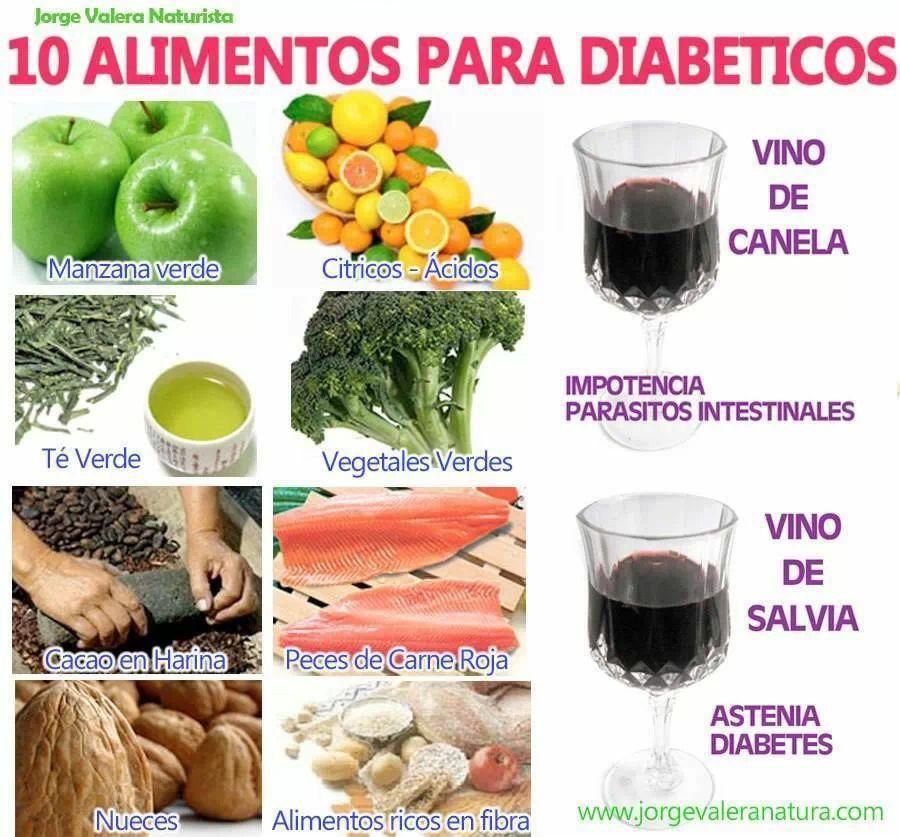 10 alimentos para diabéticos #salud   Salud   Alimentos