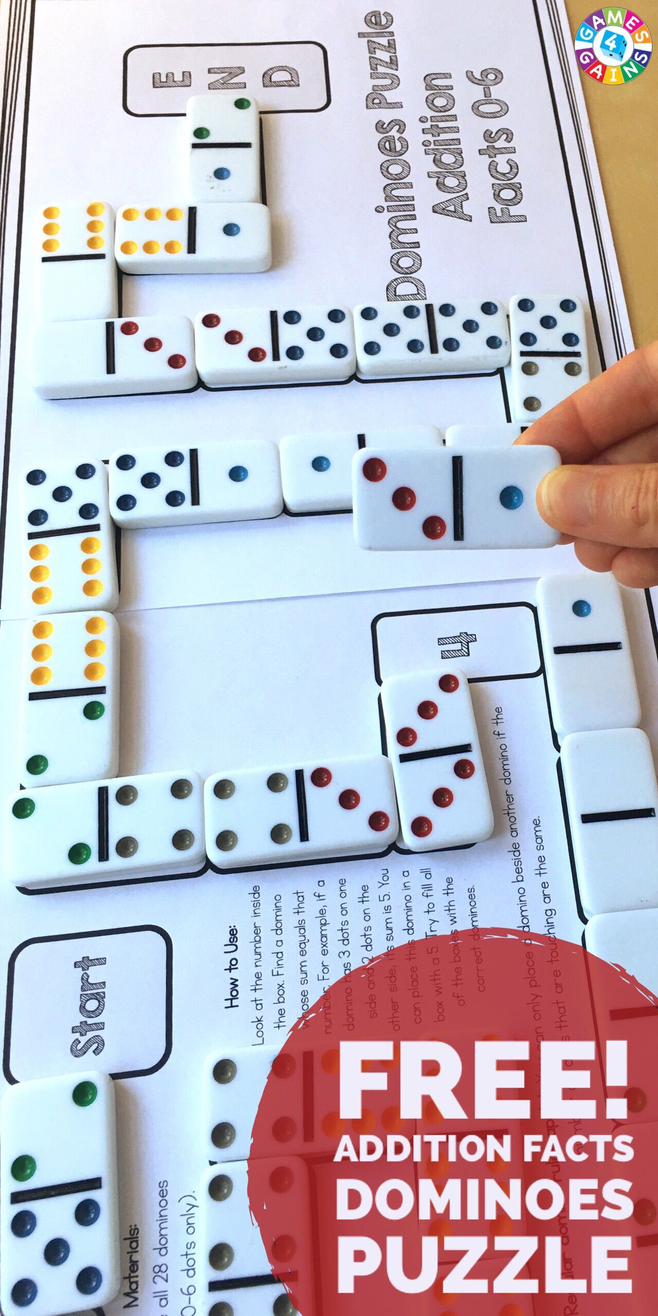 Use Basic Facts to Solve These Dominoes Math Puzzles! | LEARNING ...