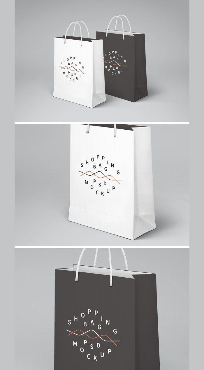Download Free Psd Shopping Bag Mockup By Raul Taciu Omahpsd Idee Grafici