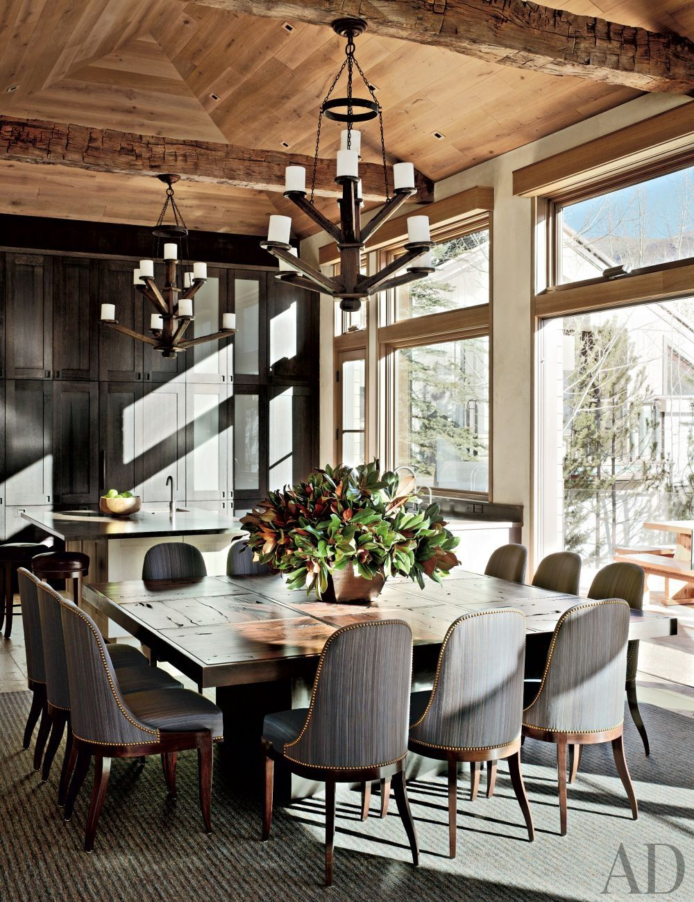Design 3 People Room: Rustic Dining Room By Stephen Sills Assoc. And Menendez