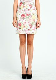 floral skirt in blue too