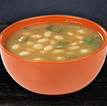 Savory Spicy White Chili with Tomatillos - Recipe, Mexican Food, Vegetarian, Soups, Stews, Main Dish, Quick, Easy