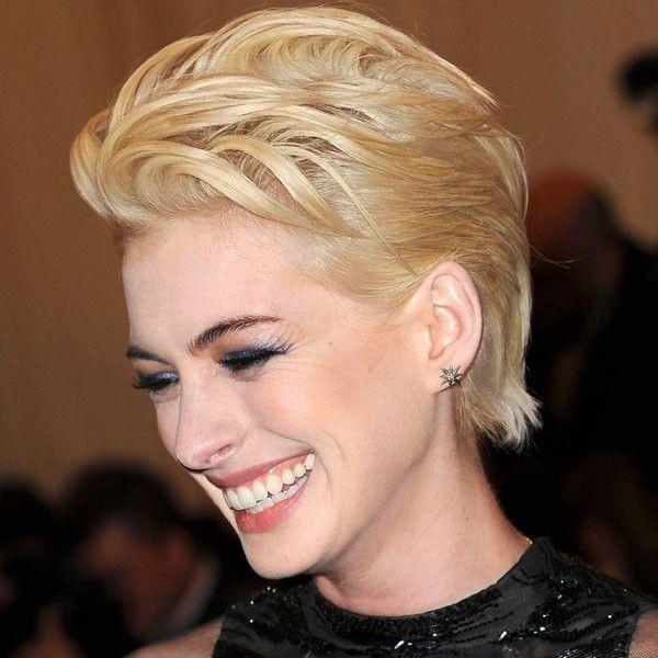 Anne Hathaway Short Hair Blonde Google Search