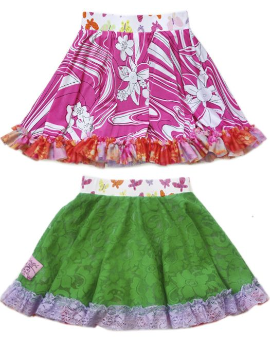 TwirlyGirl Fit /& Flare Twirly Skirt for Girls with Ruffles Reversible USA Made
