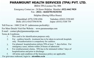 Paramount Health Services Tpa Pvt Ltd Health Services