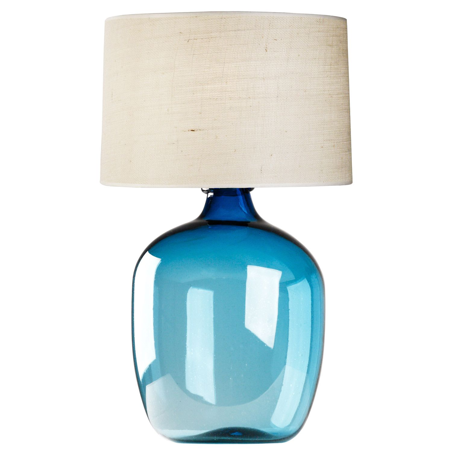 Poseidon Blue Table Lamp Zinc Door