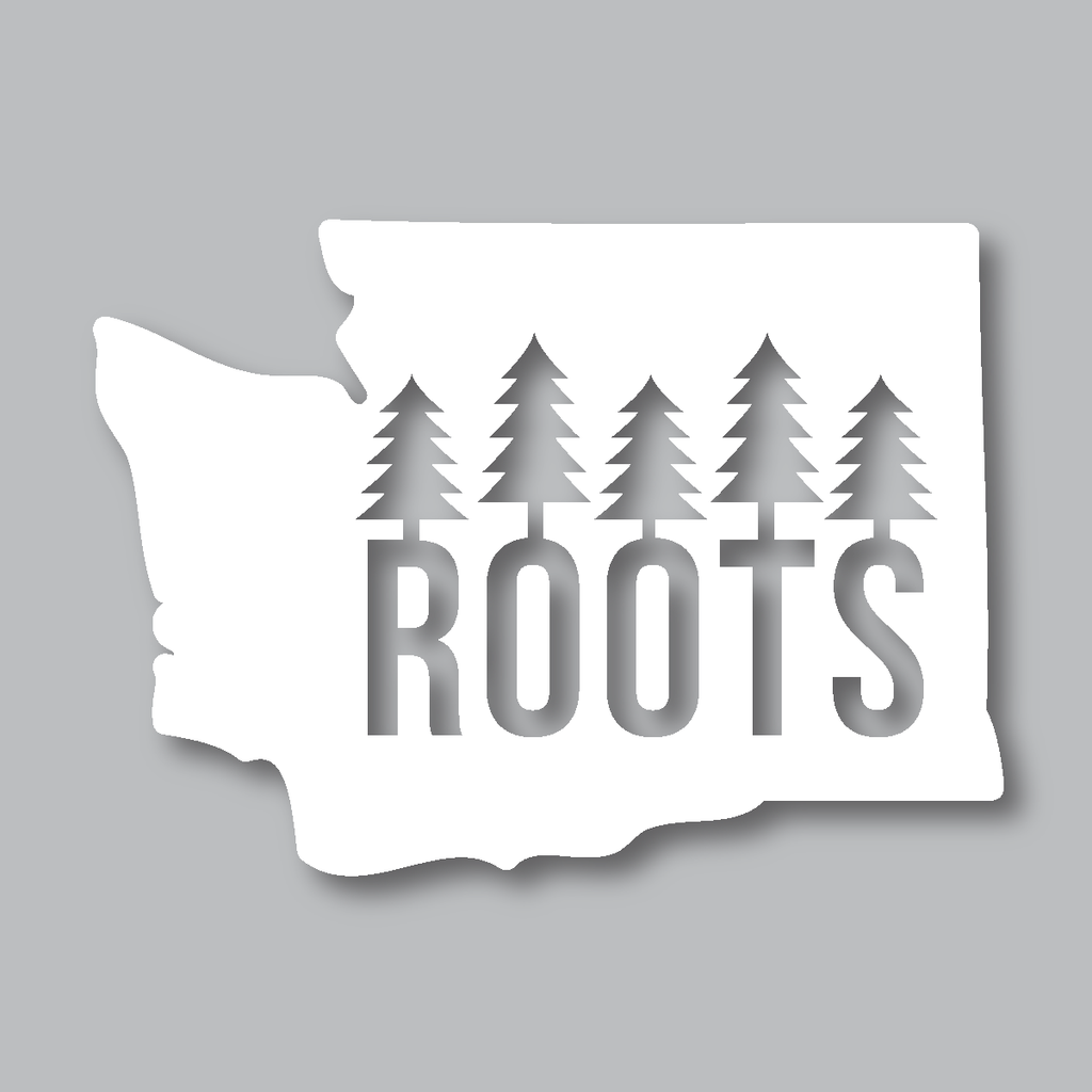 Our washington roots diecut sticker is one of our top selling items it is the perfect design for anyone born raised in washington state