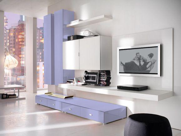 soggiorno moderno lilla | arredissima soggiorni | pinterest ... - Soggiorno Con Pareti Lilla