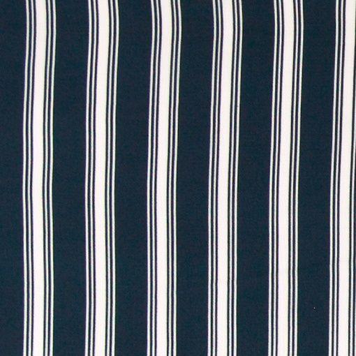 Krepp chiffon offwhite m navy striper